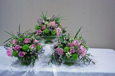From the meadow pedestal centerpieces