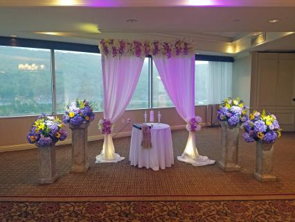 indoor fabric & flower arbour-2