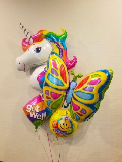 Butterfly Unicorn Get well Bouquet
