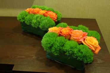 Orange stripe centerpiece