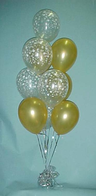 simple 10 balloon bouquet