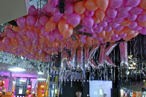 Balloon filled ceiling