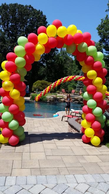 Red Lime Yellow 2 spiral arches