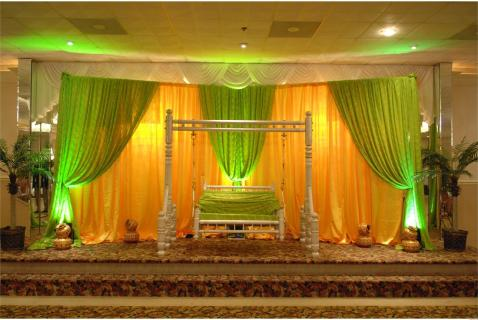 Lime and gold backdrop