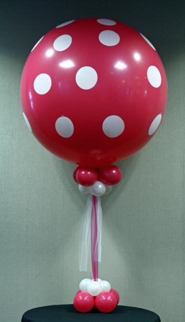 Giant polka dot balloon centerpiece