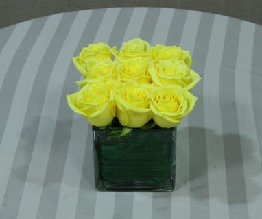 Yellow rose compact cube small table
