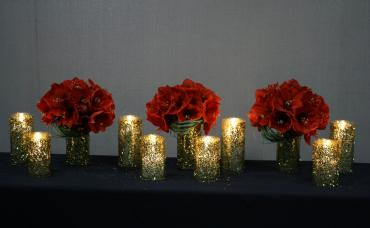 Amaryllis Holiday Centerpiece