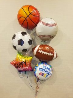 Sports Balls Personalized Birthday Bouquet