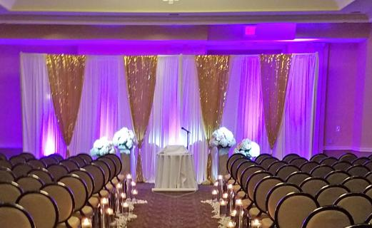 pink & gold Backdrop ceremony-2