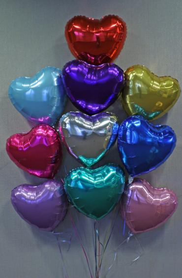 Colorful Hearts Balloon Bouquet