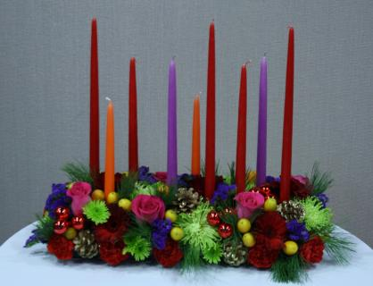Colorful Holiday centerpiece