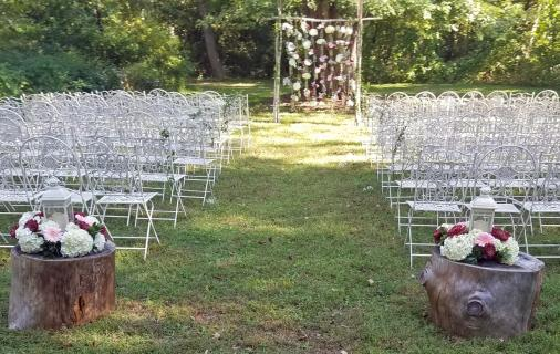 Secret tree garden wedding