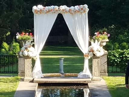 fabric & flowers wedding arbour
