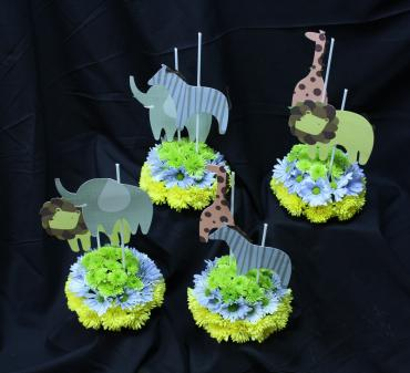 Childs birthday centerpieces
