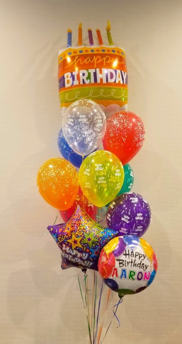 Personalized Birthday Cake Bouquet