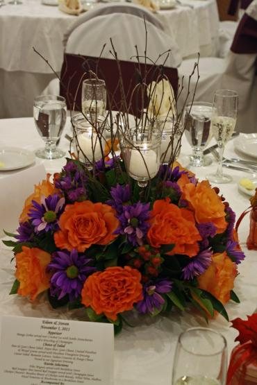 Orange free spirit centerpiece