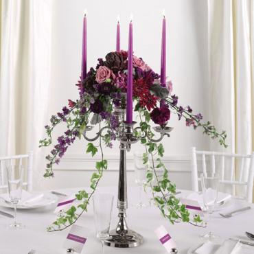 Candelabra Reception Centerpiece