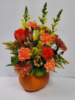 Fresh Pumpkin Arrangement