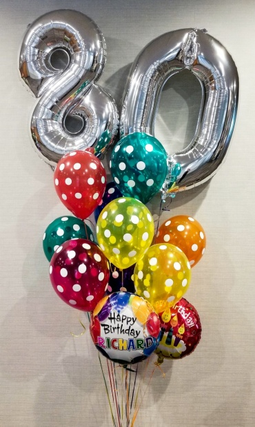 Big Numbers Name & Age Birthday Bouquet