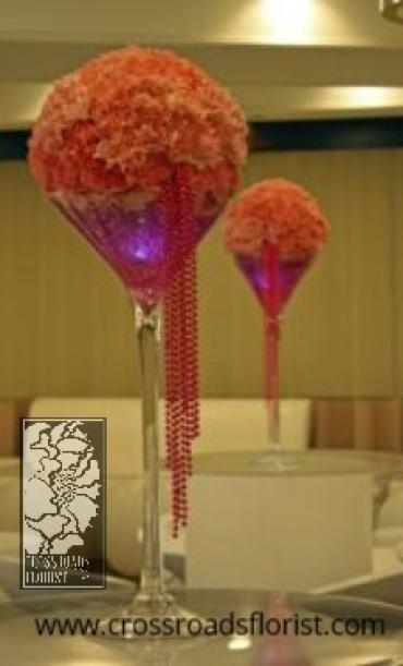 Carnation sphere martini