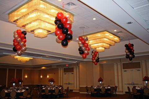 Balloon Ceiling Spirals