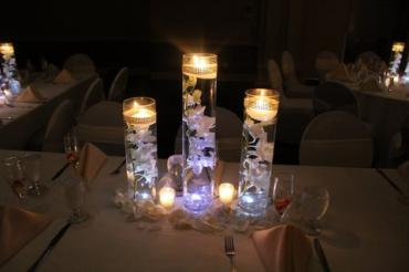 tall floating orchid candles