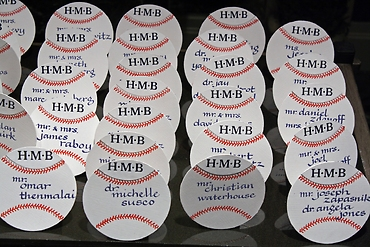 Hall of fame place cards