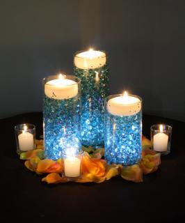 Glowing Candles centerpiece
