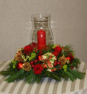 Hurricane Candle Centerpiece