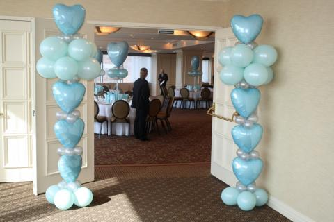 Tiffany blue heart columns
