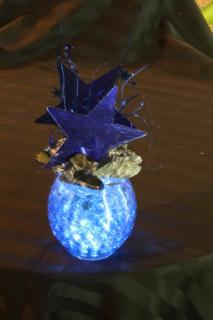 illuminated star cocktail table centerpiece