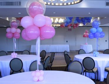 Pink & Blue double stuffed Topiaries