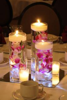 Purple orchid candles