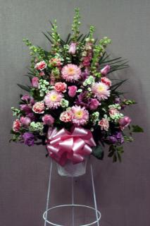 Pink Tribute Standing Basket