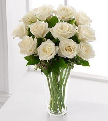 A Dozen White Rose