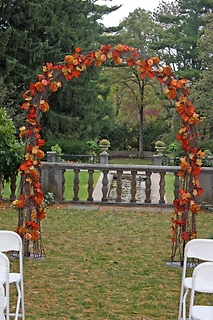 Simple Autumn Wedding Arch