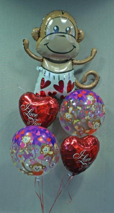 Love Monkey Balloon Bouquet