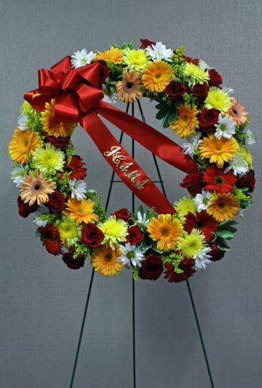 Thoughts and Prayers Sympathy Wreath