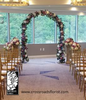 Lavender & white Wedding Arch